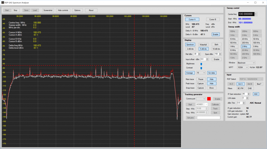 spectrumanalyser met SDR play